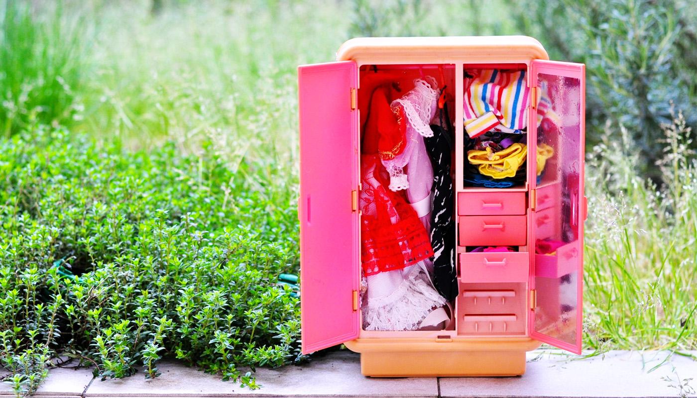 l'armadio di barbie